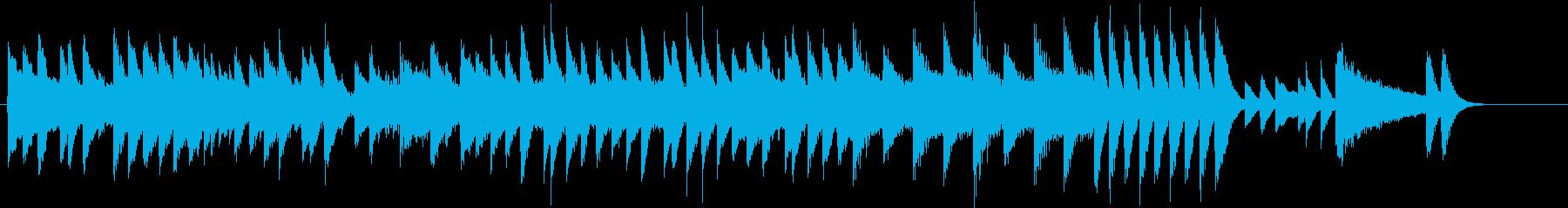 楽しいウインタースポーツのピアノジングルの再生済みの波形