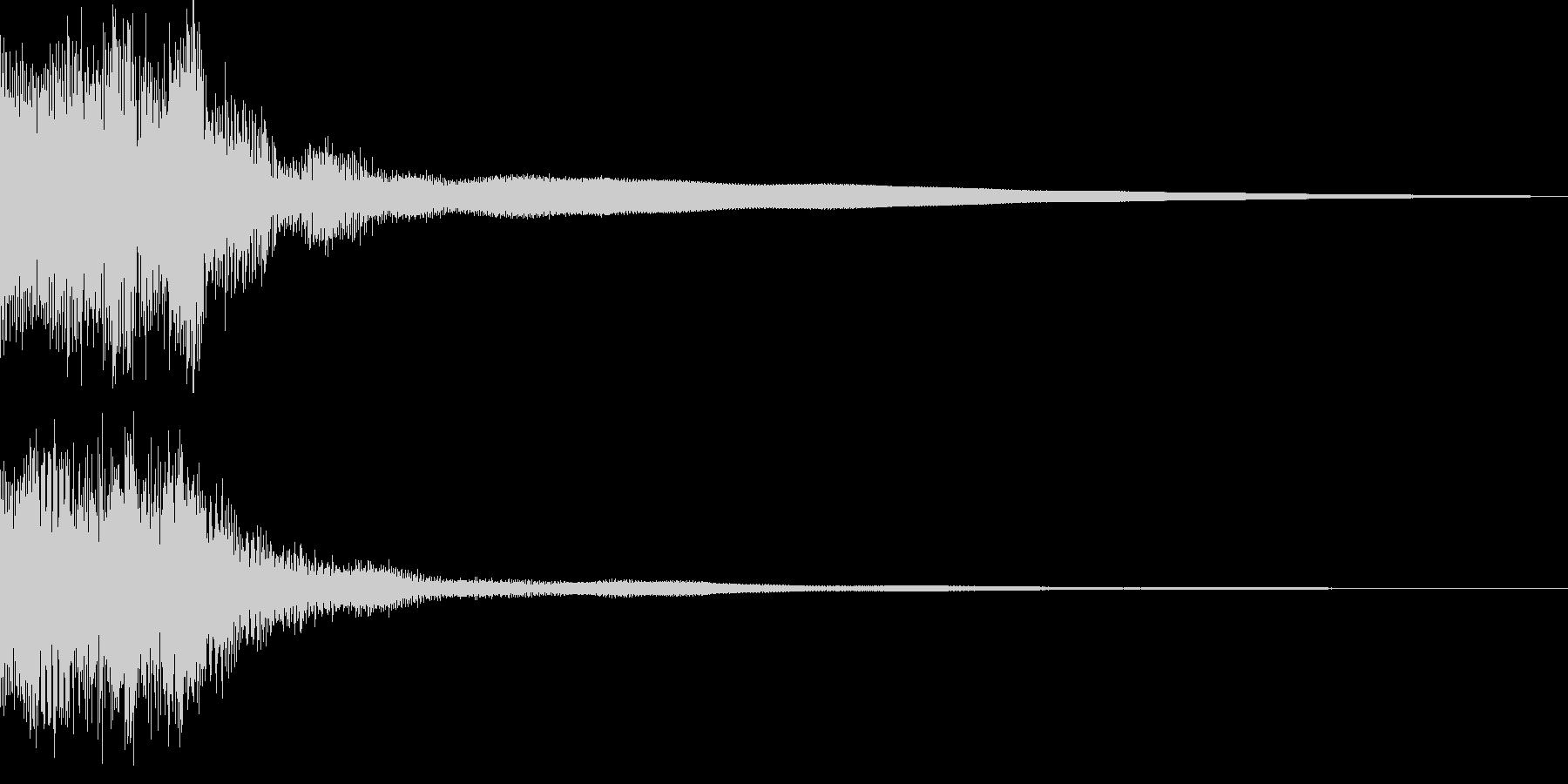 カジノスロット定番トップシンボル音2の未再生の波形