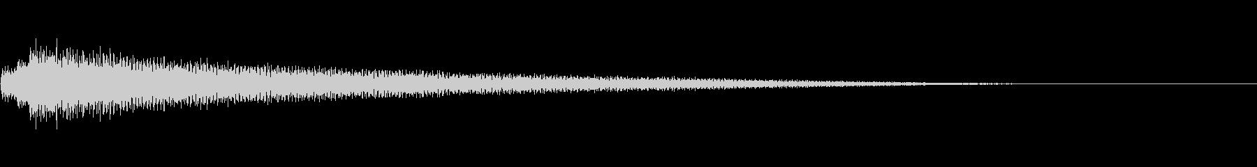 怪しいエスニックシンバル、かかかーんの未再生の波形