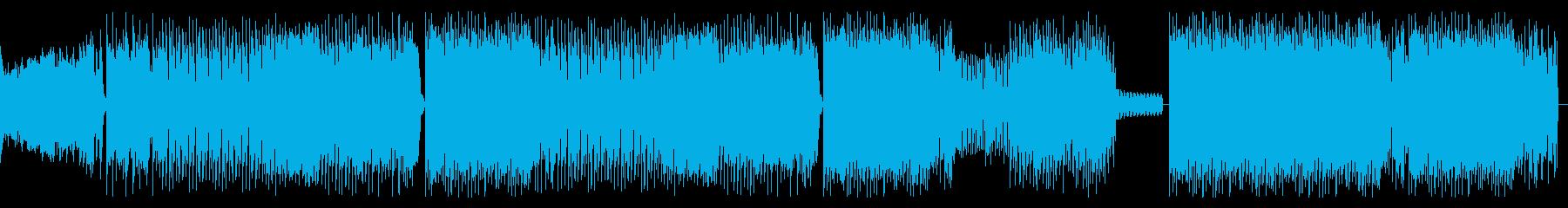 はちゃめちゃでスリリングなEDMビートの再生済みの波形
