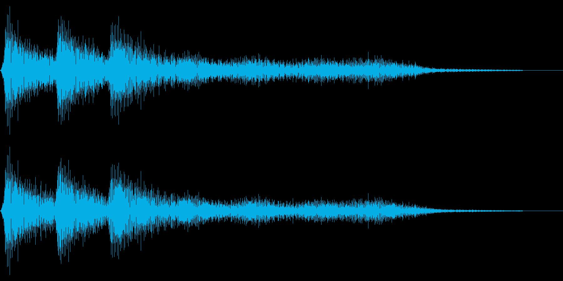 レトロなミス音 ゲームオーバー 失敗の再生済みの波形