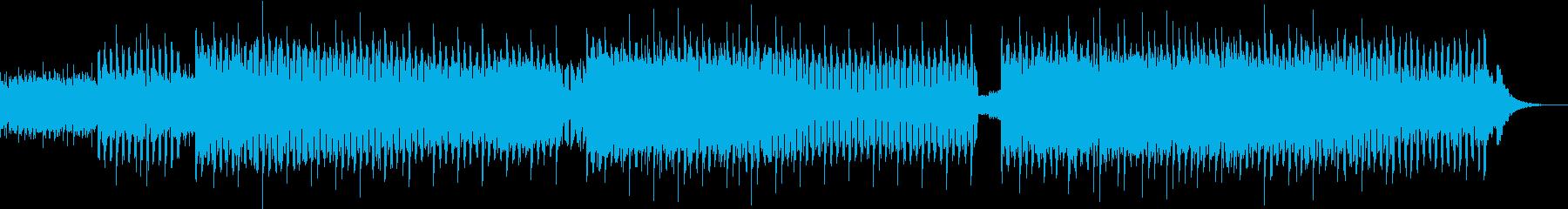 爽やかな朝のテクノポップの再生済みの波形