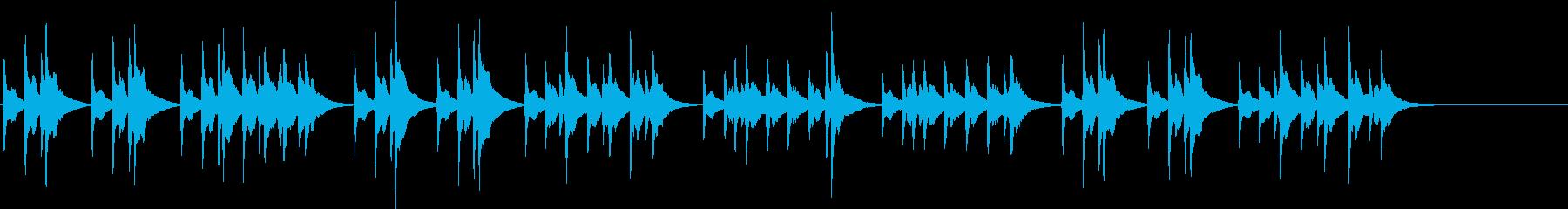 結婚行進曲 婚礼の合唱 オルゴールの再生済みの波形