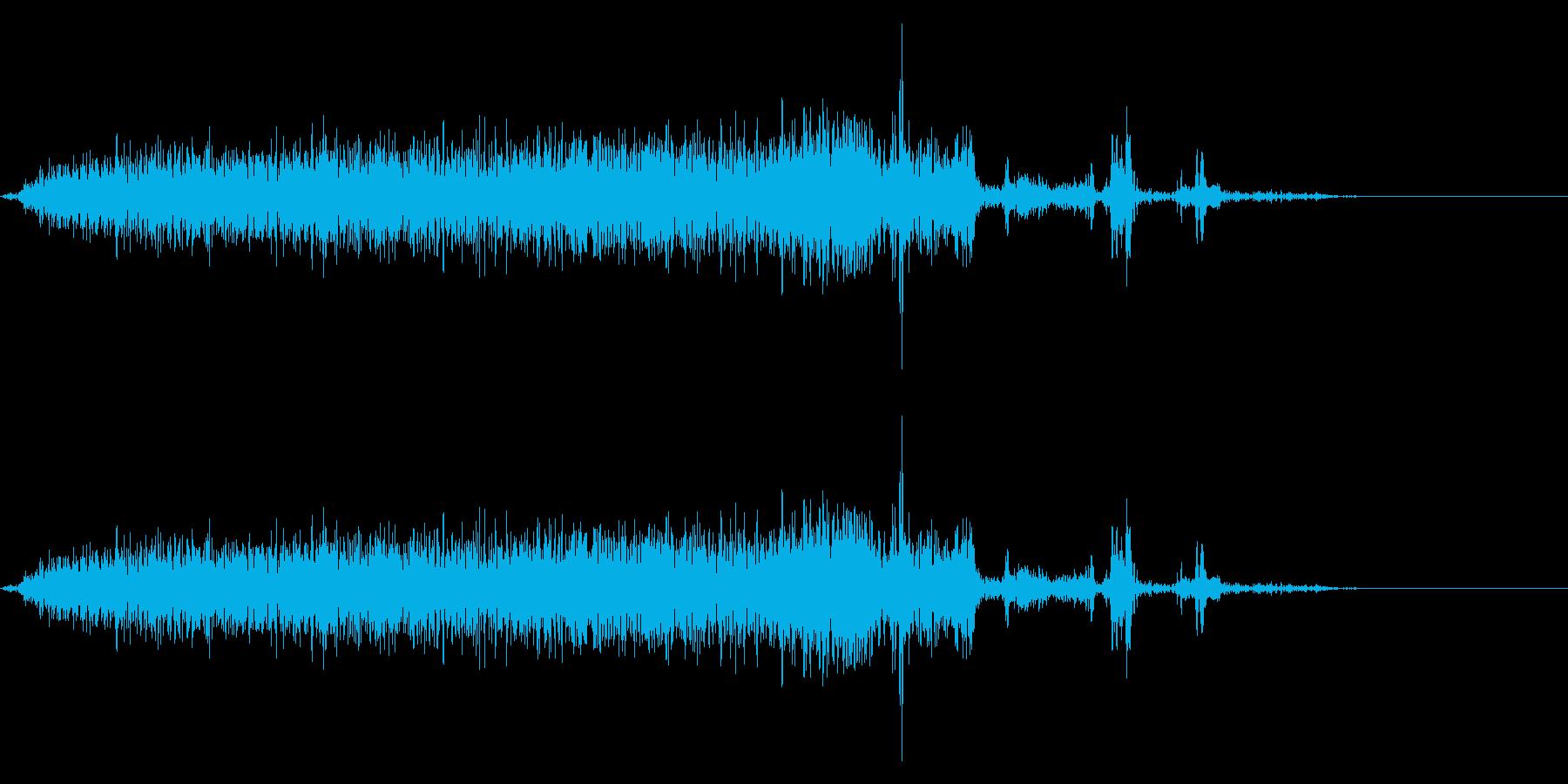 【生録音】本のページをめくる音 5の再生済みの波形