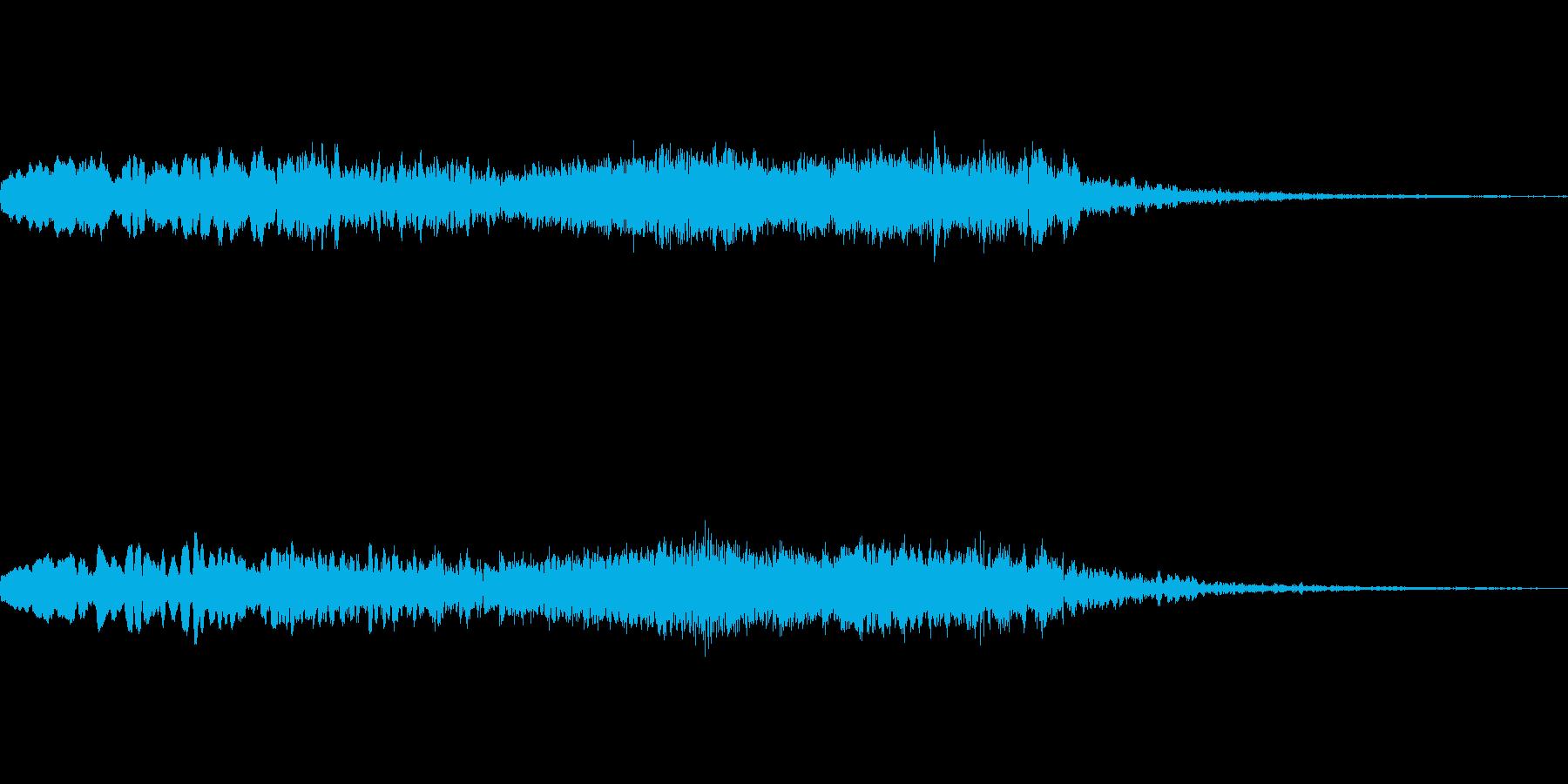 ホラー系 心霊現象が起きた時のSEの再生済みの波形
