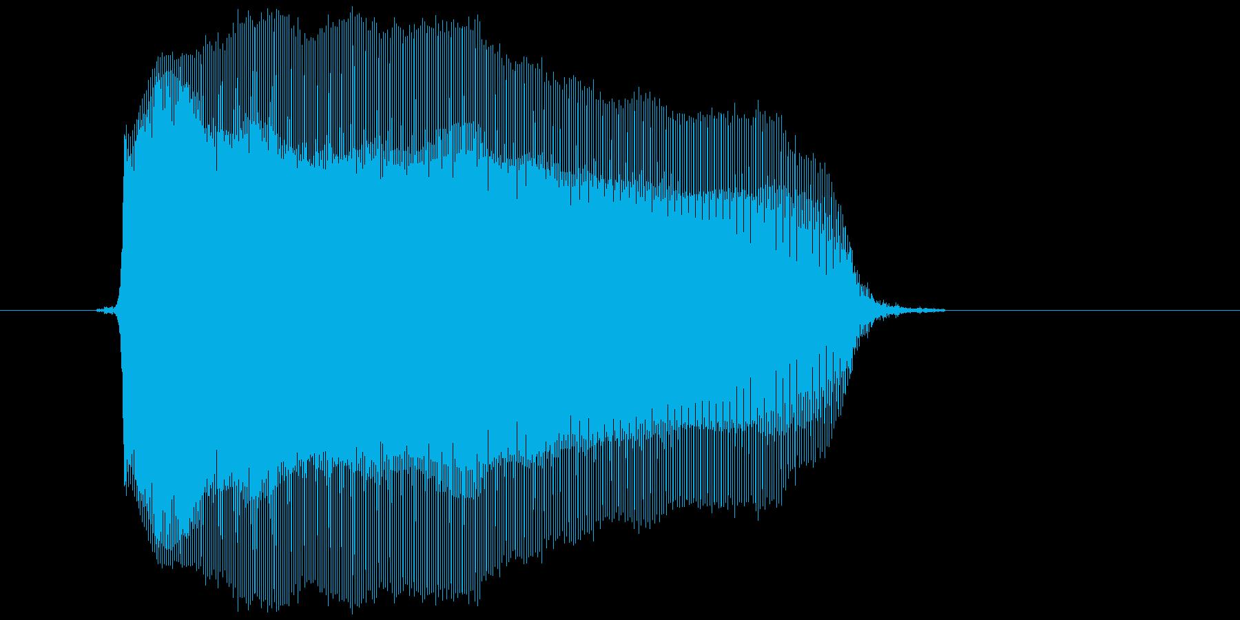 「ううー」の再生済みの波形