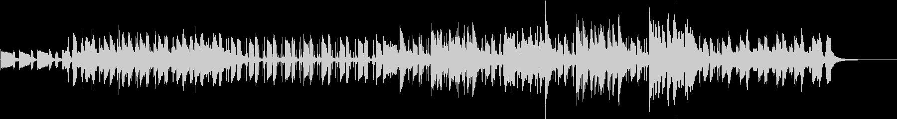 ピアノのリズムが軽快なポップスジャズの未再生の波形