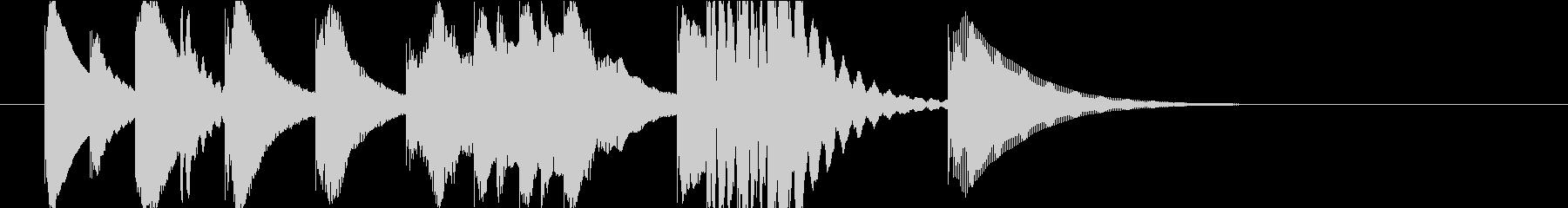 マリンバの間抜けなジングルの未再生の波形