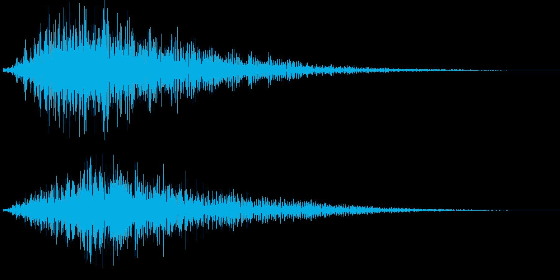 不気味、不穏な音の再生済みの波形