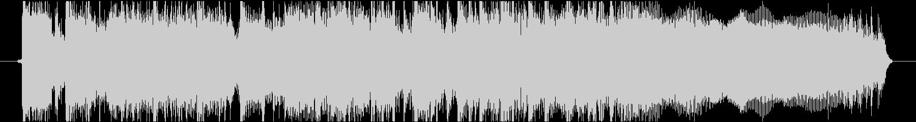 緊迫感あるハードロック・メタル調ジングルの未再生の波形