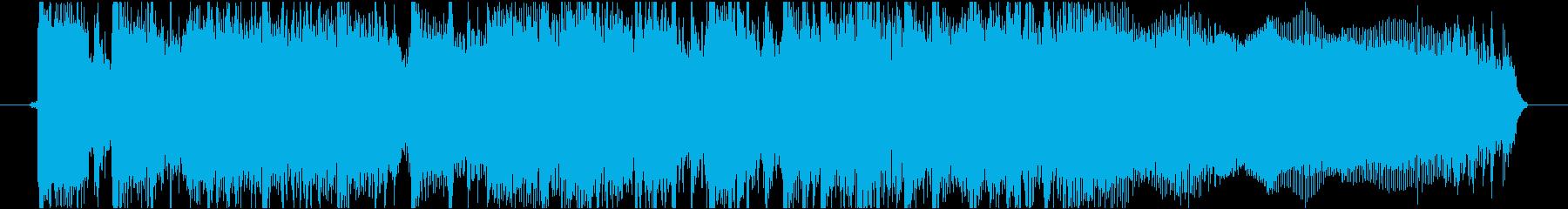 緊迫感あるハードロック・メタル調ジングルの再生済みの波形