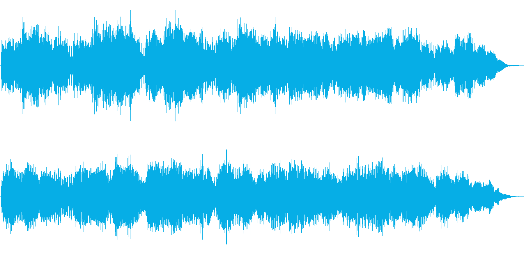 未来空間音楽の再生済みの波形
