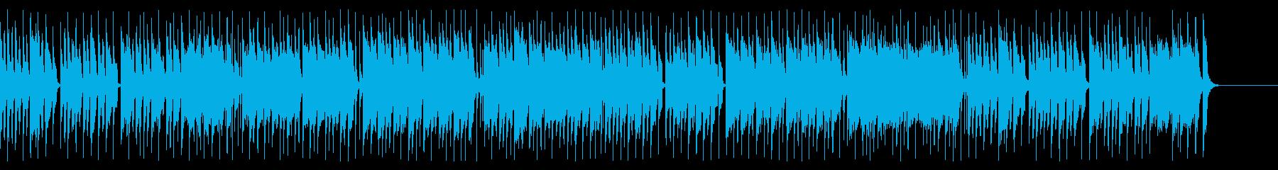 チェンバロとシンセのアップテンポな曲の再生済みの波形