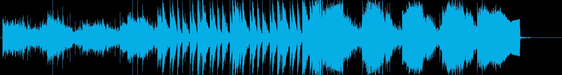 何かが出そうな、怖い和風テイストの音楽の再生済みの波形