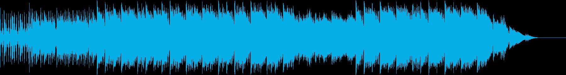 テンポが早いジャズの再生済みの波形