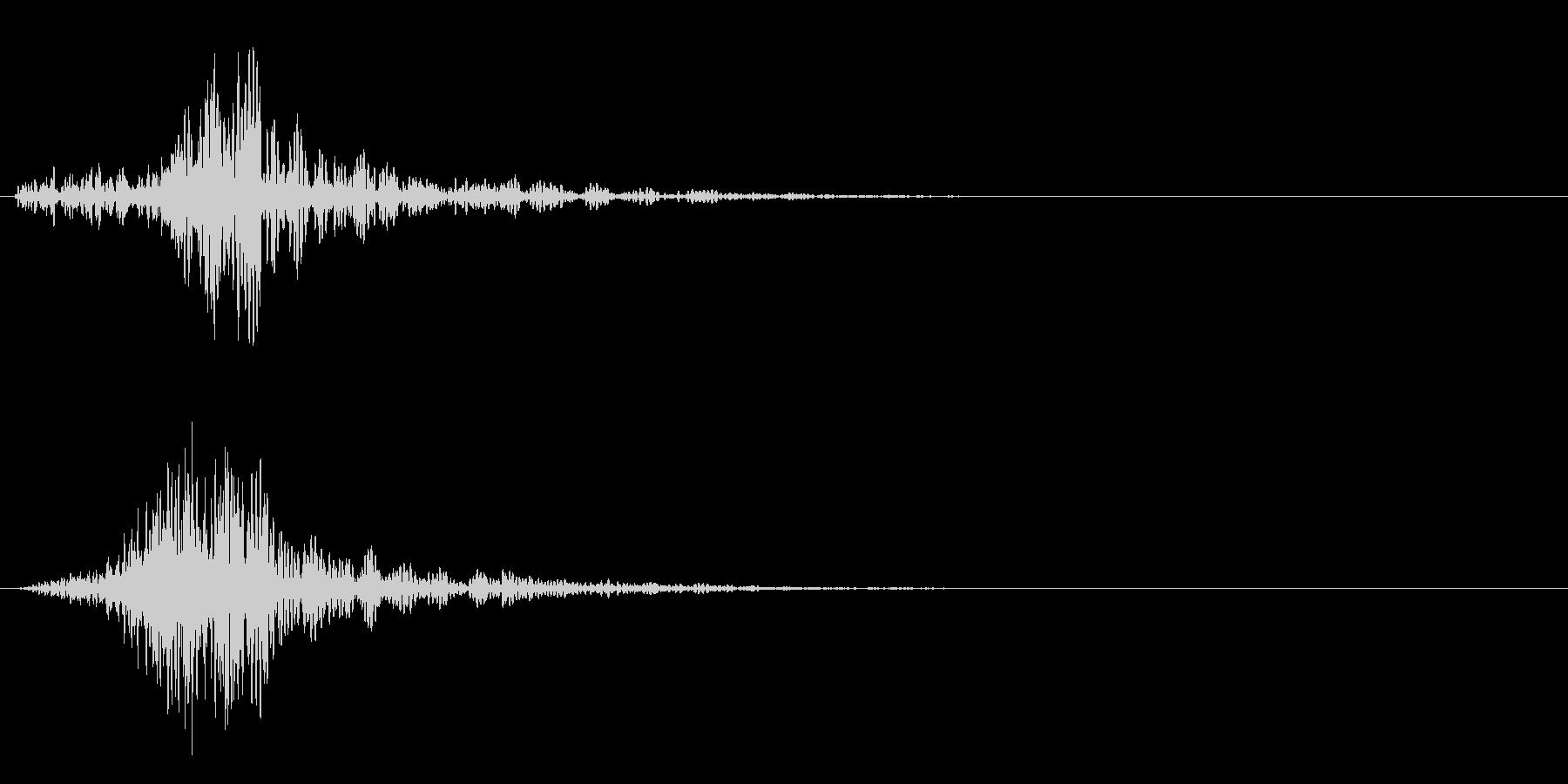 シャッ!カットイン/風切り/場面転換01の未再生の波形