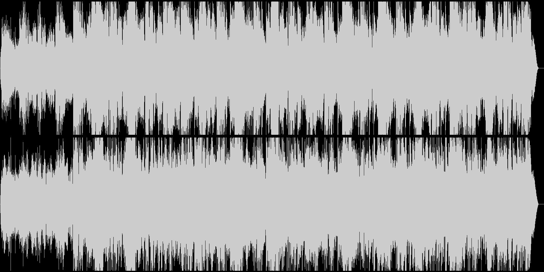 シリアスな雰囲気のピアノメロディーの未再生の波形