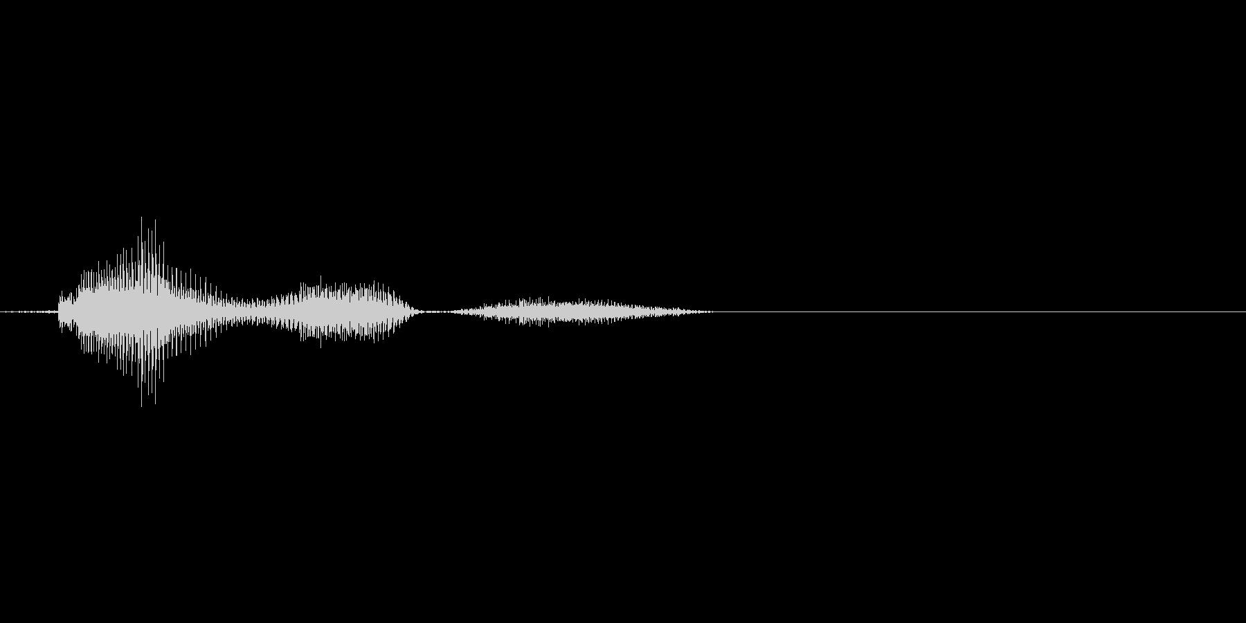 ゲーム 少年 弱/中ダメージ『うぅ』の未再生の波形