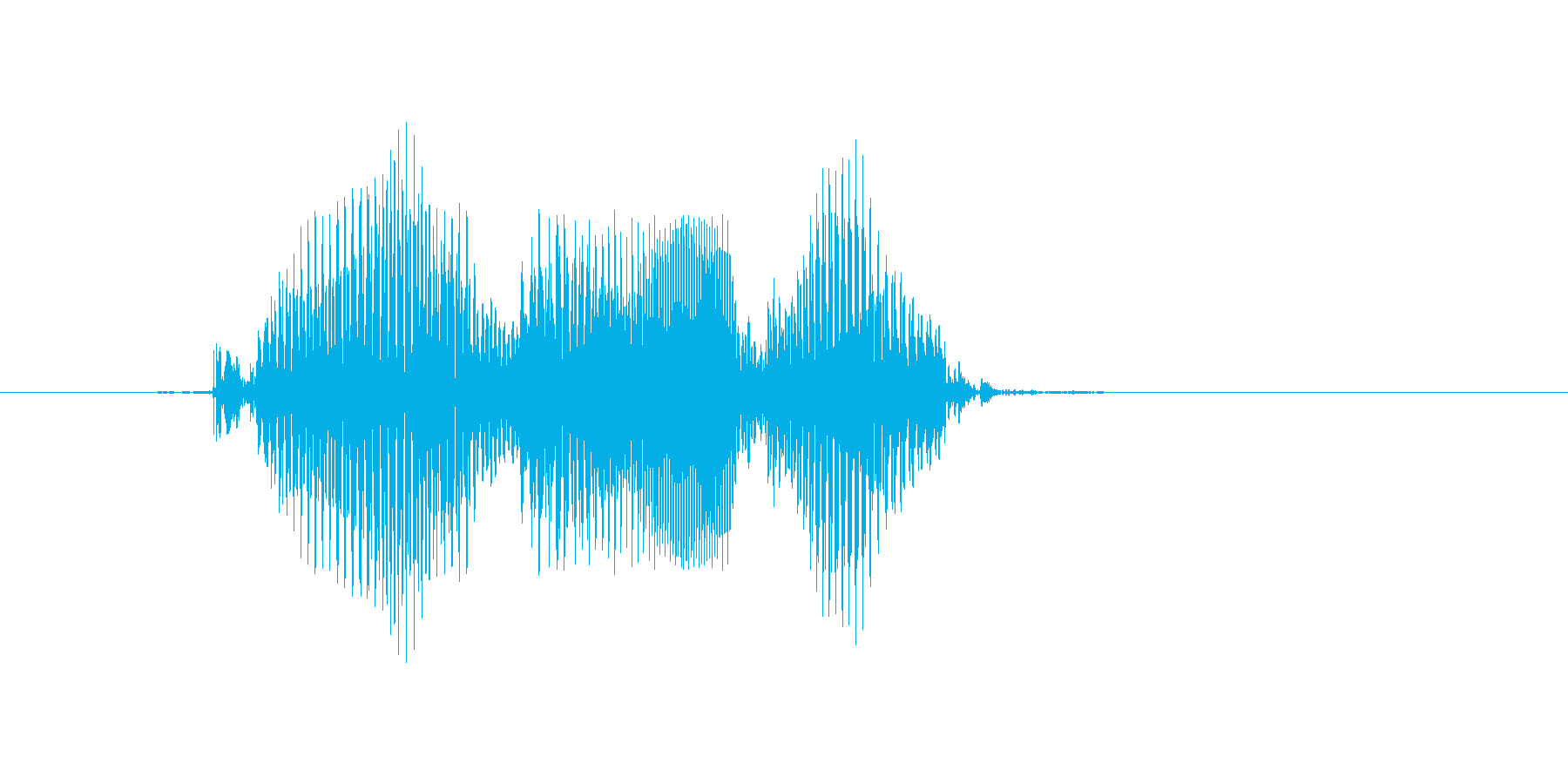 閉じるの再生済みの波形