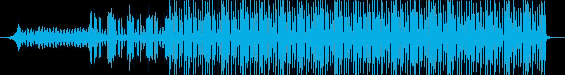 知的なレイ・ハラカミ風アートBGMの再生済みの波形