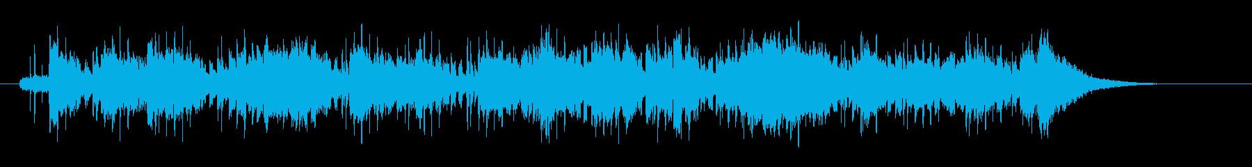 軽いタッチのアコースティック・ボサノバの再生済みの波形