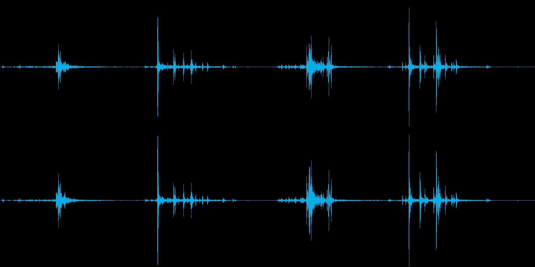 【生録音】何かを洗う音 2 石鹸 泡の再生済みの波形