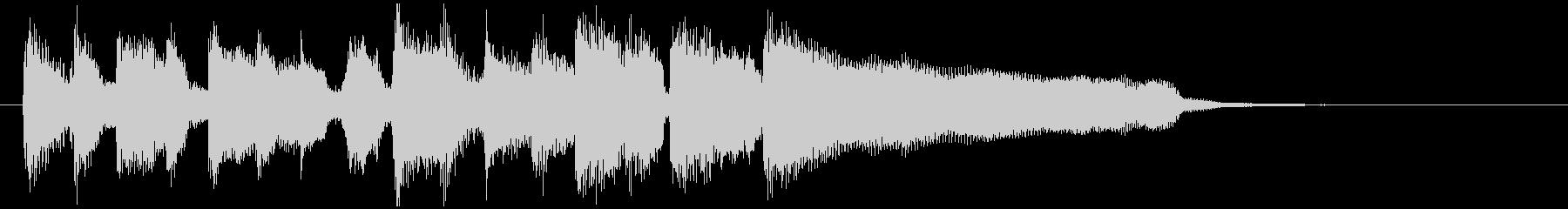 生音ディスコ系のスタイリッシュなジングルの未再生の波形