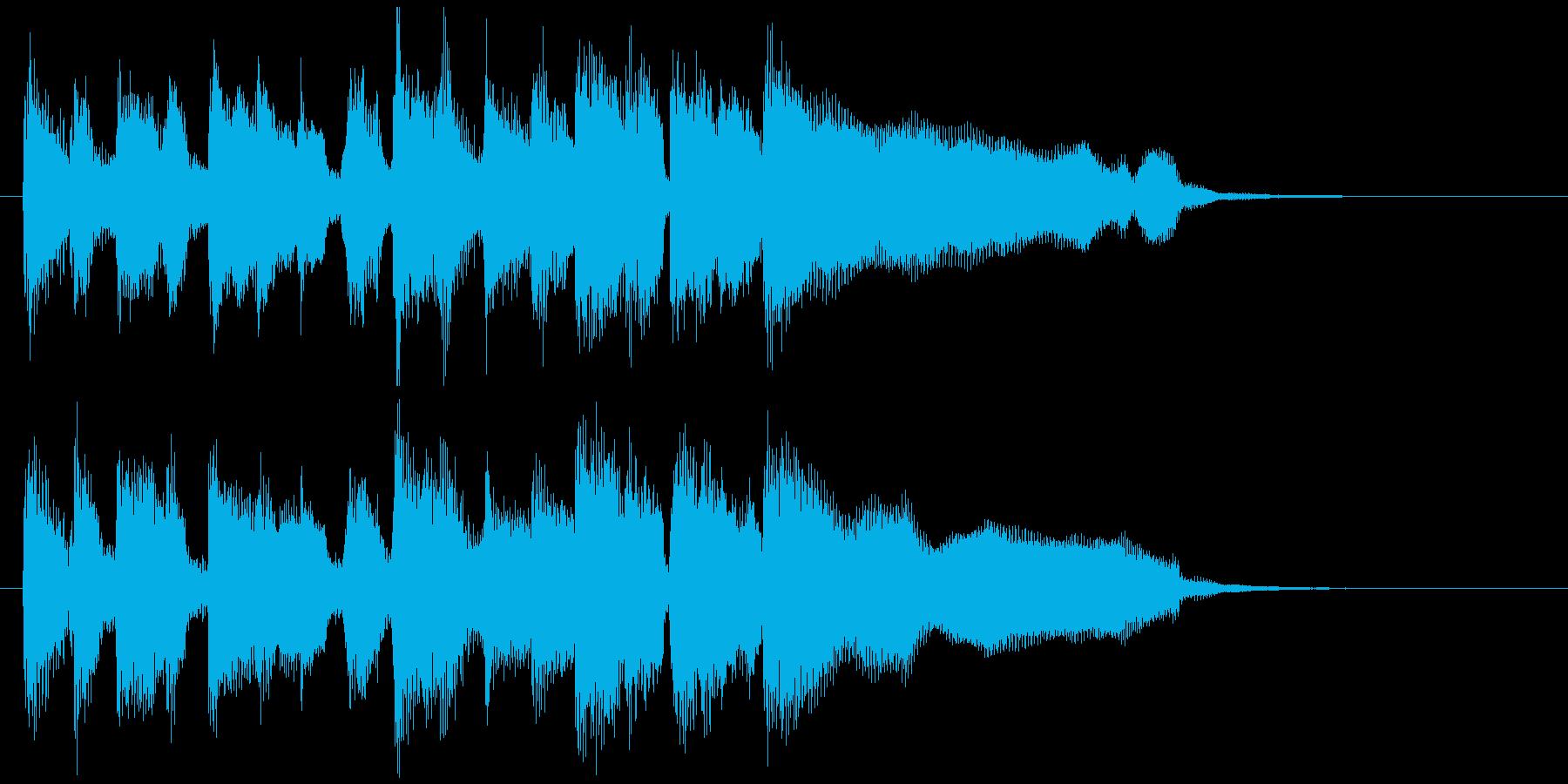 生音ディスコ系のスタイリッシュなジングルの再生済みの波形
