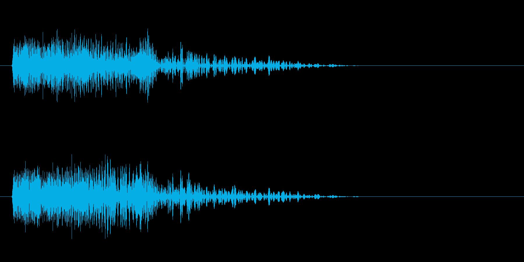 ベタなhiphop風の効果音の再生済みの波形