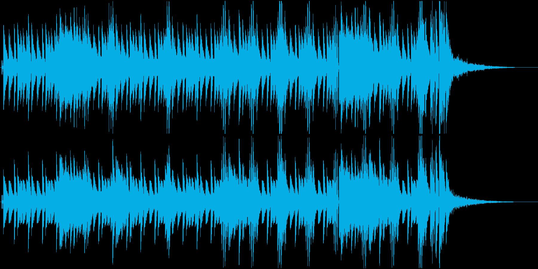 ゲームの戦闘に合いそうな民族楽器曲の再生済みの波形