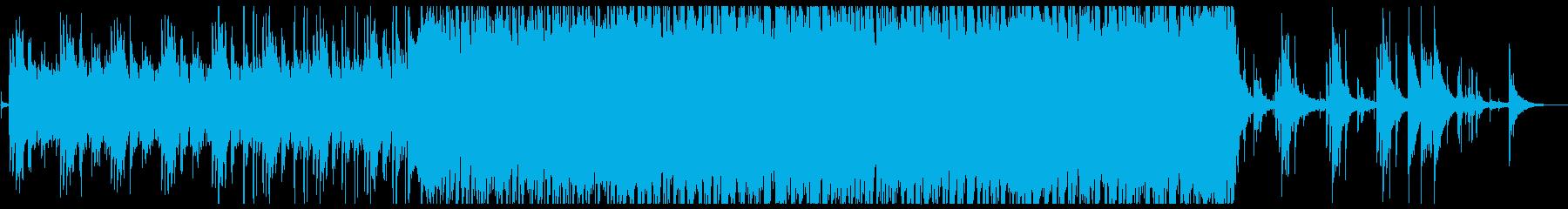 水をイメージしたピアノメインのインストの再生済みの波形