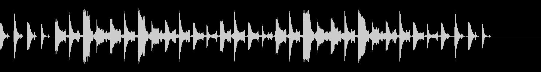 テクノ、ポップ、シンセ、ジングル2の未再生の波形