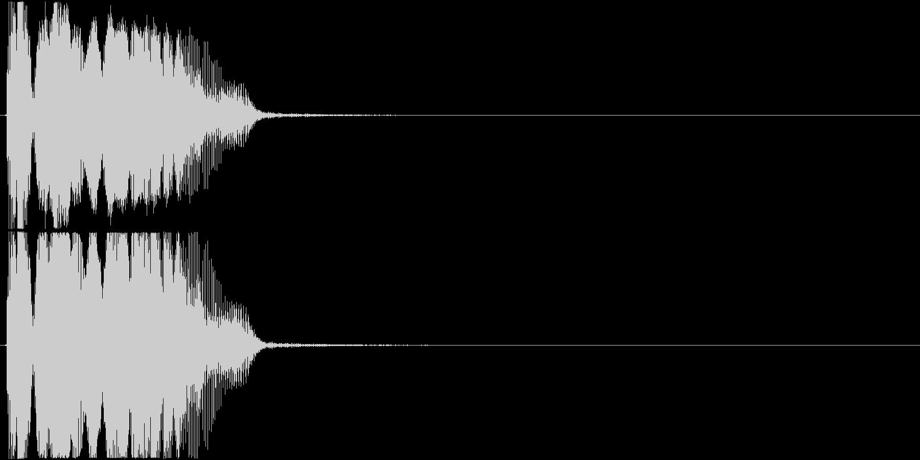 「カモン」アプリ・ゲーム用2の未再生の波形