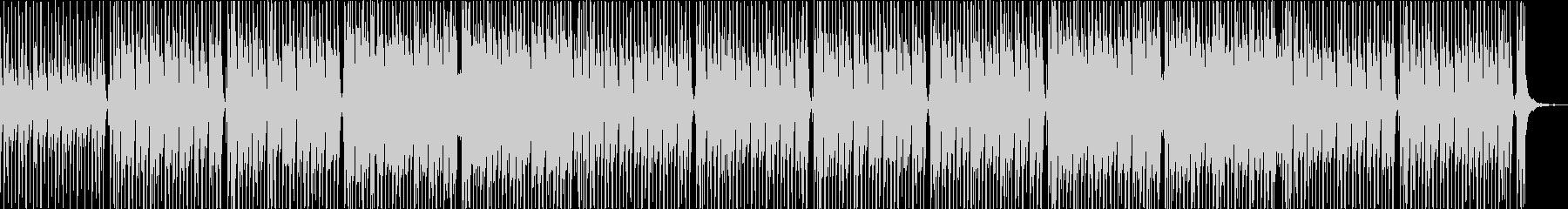コミカルで可愛いアップテンポなポップスの未再生の波形