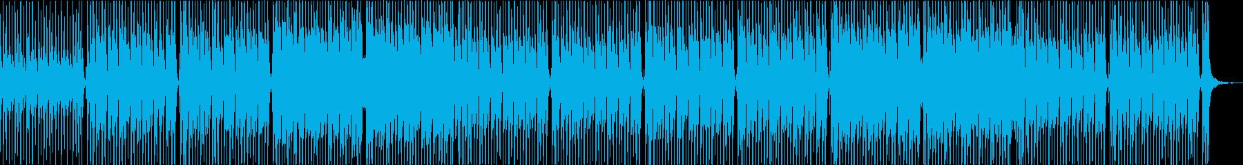 コミカルで可愛いアップテンポなポップスの再生済みの波形
