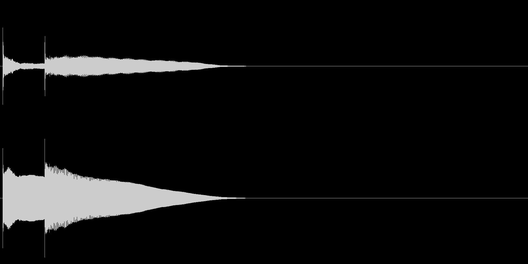 グロッケン系 決定音02(小)の未再生の波形