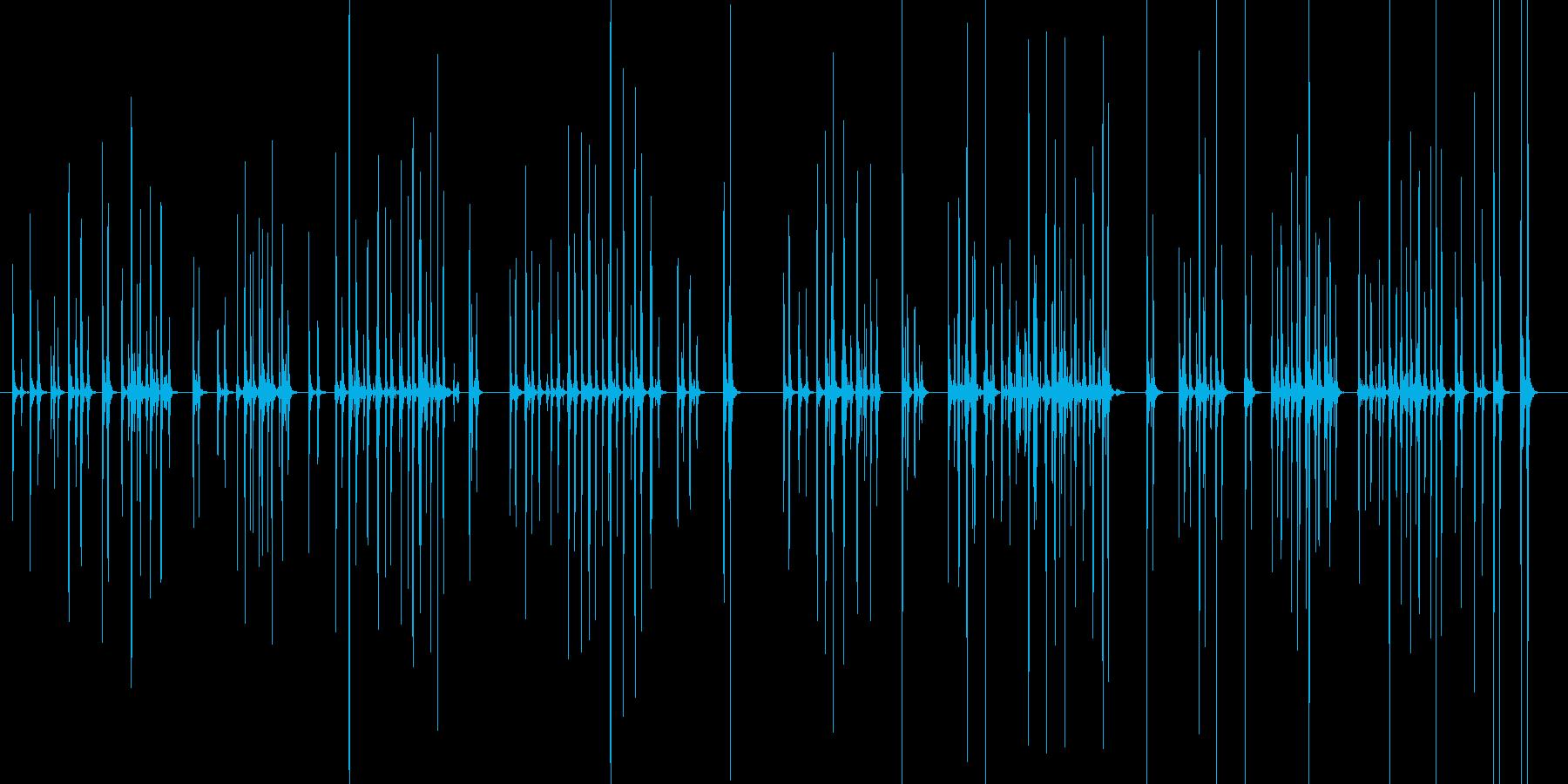 カタカタ_キーボード_タイピング長めの再生済みの波形