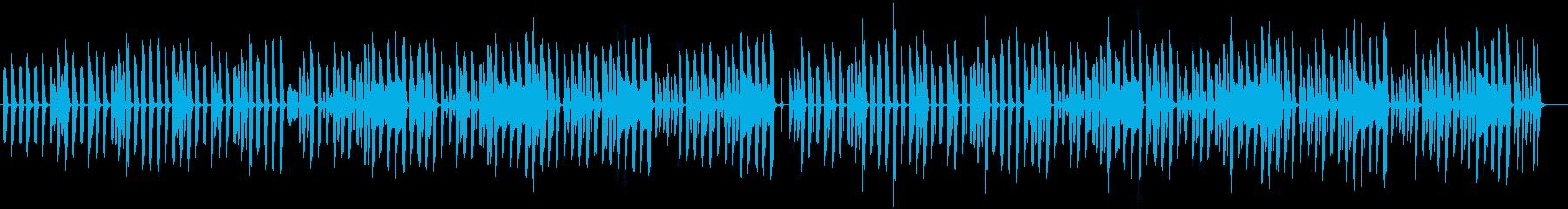 ほのぼのした日常系ポップスの再生済みの波形