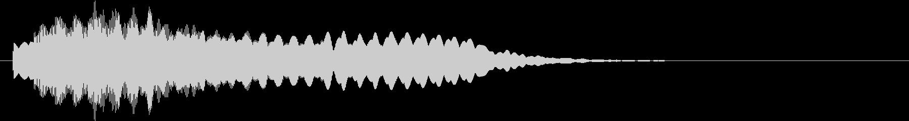ピリリリ〜 回復魔法の様な音の未再生の波形