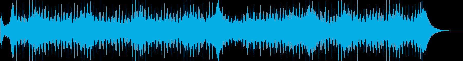 エレクトロでピアノメロの意気込みある曲の再生済みの波形