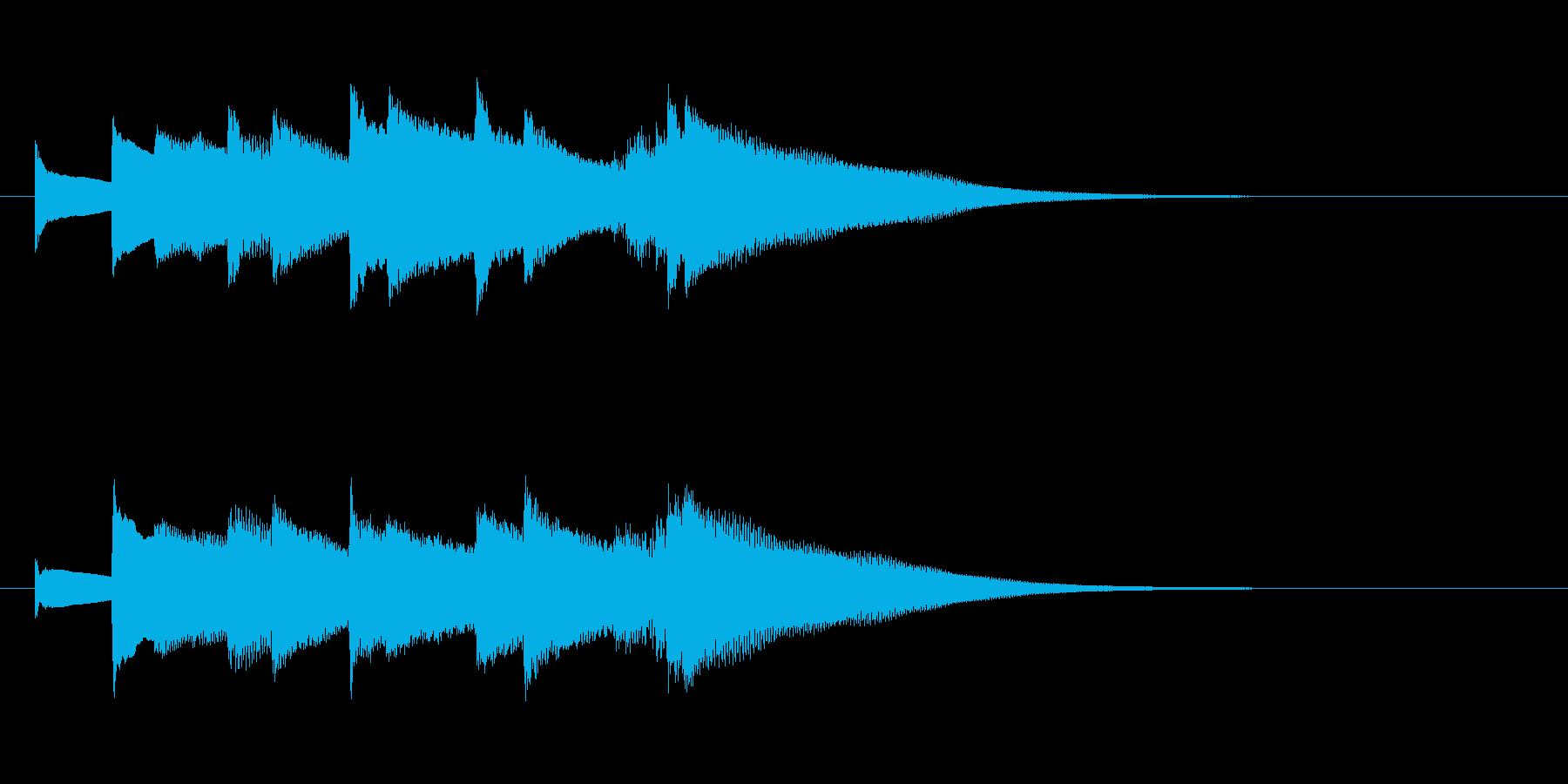 オルゴールのアイキャッチ(短調、寂しい)の再生済みの波形