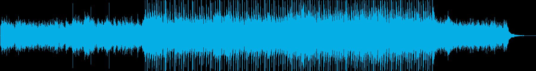 前進する様な企業VP映像ピアノとシンセの再生済みの波形