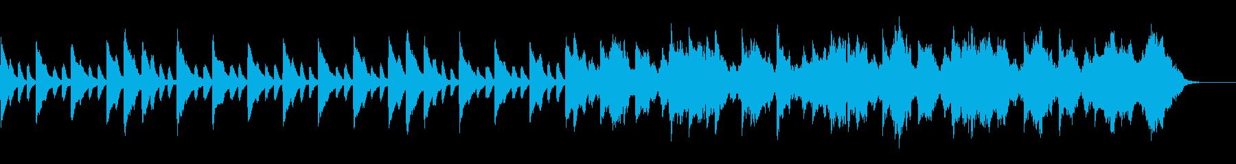 ゆったりとしたバラード風な曲の再生済みの波形