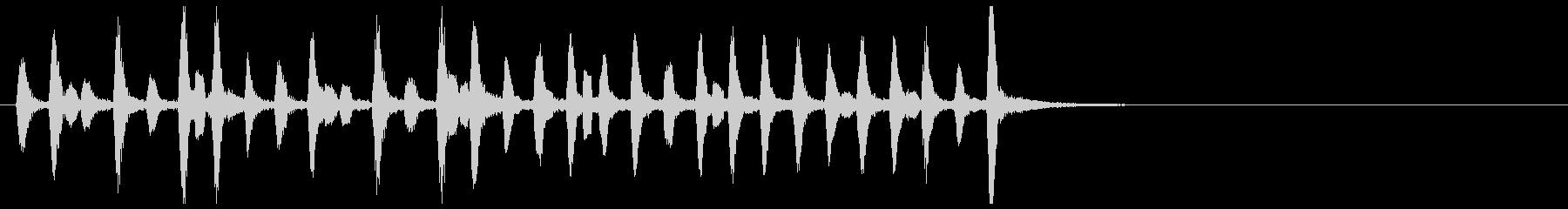 悲しげな小人悲劇的木管リコーダーバンドの未再生の波形