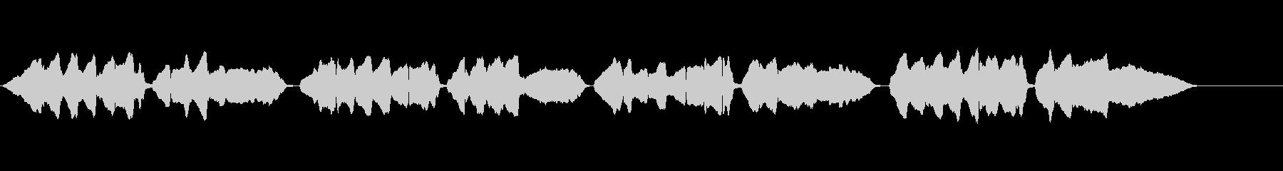 童謡「夕焼け小焼け」ハーモニカ・ソロの未再生の波形