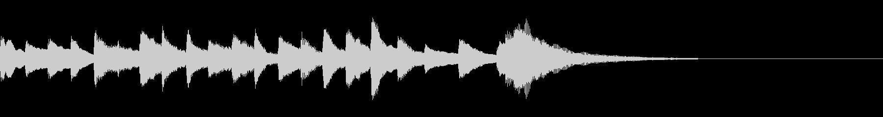 きれいなピアノのジングルの未再生の波形