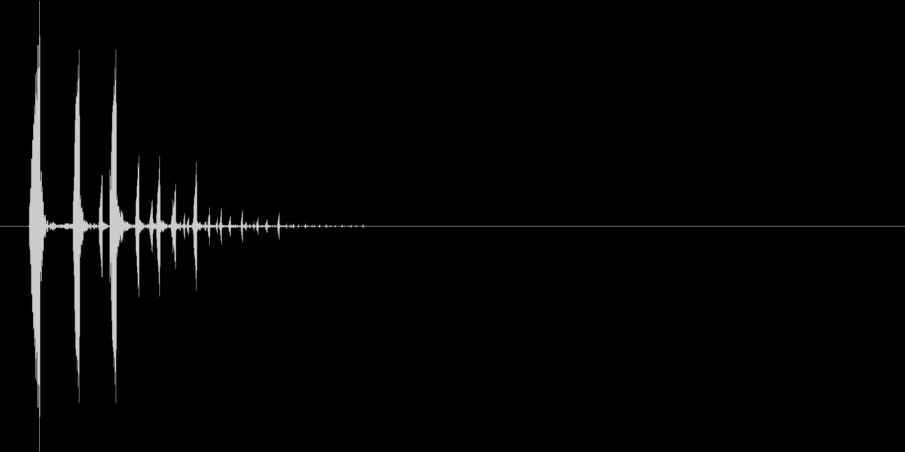 ゲームの選択・決定音の未再生の波形