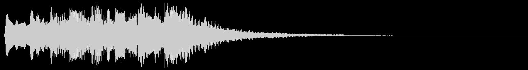 タラララ レトロな下降音 下降する音階↓の未再生の波形