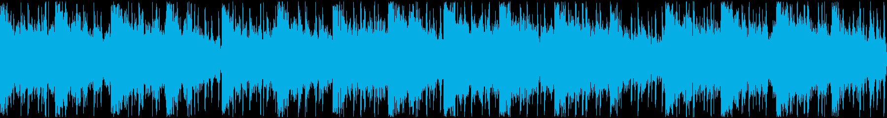 アンビエント感のあるヒップホップ系ループの再生済みの波形