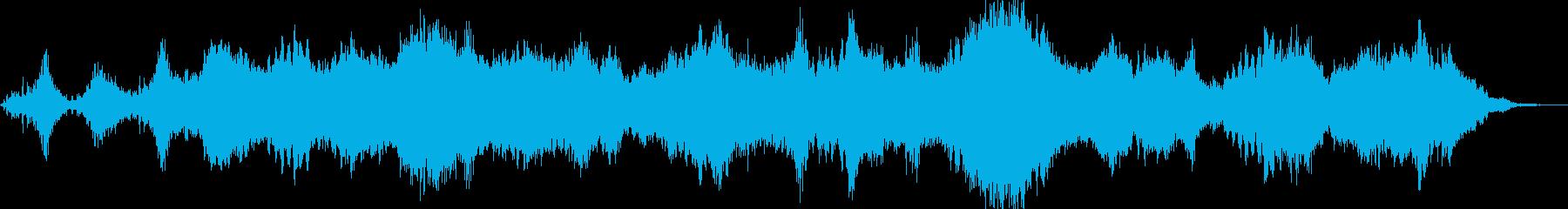 不気味で奇妙なアンビエントサウンドの再生済みの波形